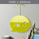 Perspex acrylic online sales, buy cut size 1000 x 600mm. Flu Yellow 3mm