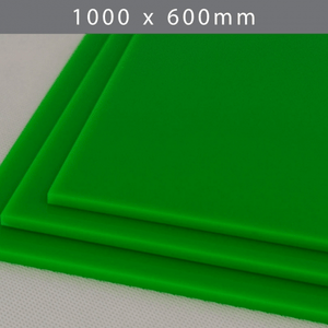 Perspex acrylic online sales, buy cut size 1000 x 600mm. LED Green