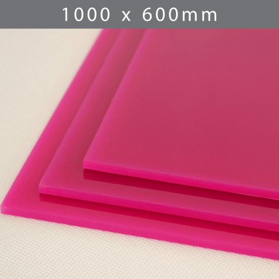 Perspex acrylic online sales, buy cut size 1000 x 600mm. LED Pink