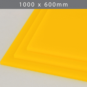 Perspex acrylic online sales, buy cut size 1000 x 600mm. LED Yellow