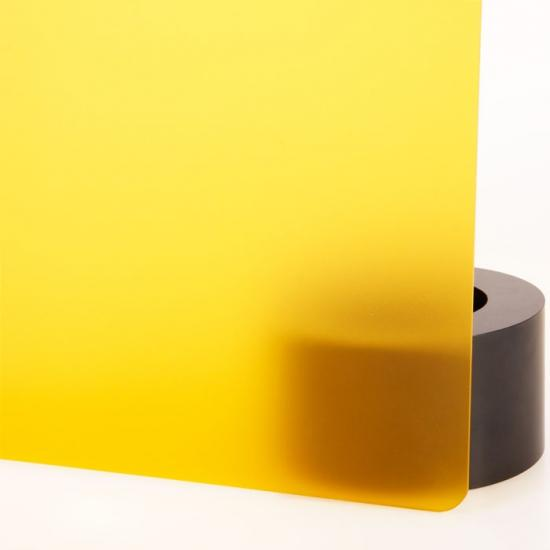 Perspex acrylic online sales, buy cut size 1000 x 600mm. FROST Yellow 3mm