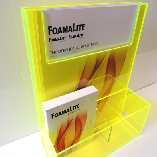 Perspex acrylic online sales, buy cut size 1000 x 600mm. AR Yellow 3mm