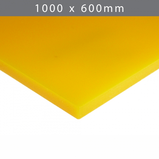 Perspex acrylic online sales, buy cut size 1000 x 600mm. Yellow 3mm