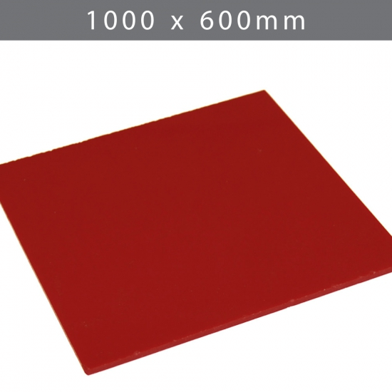Perspex acrylic online sales, buy cut size 1000 x 600mm.  Red 3mm