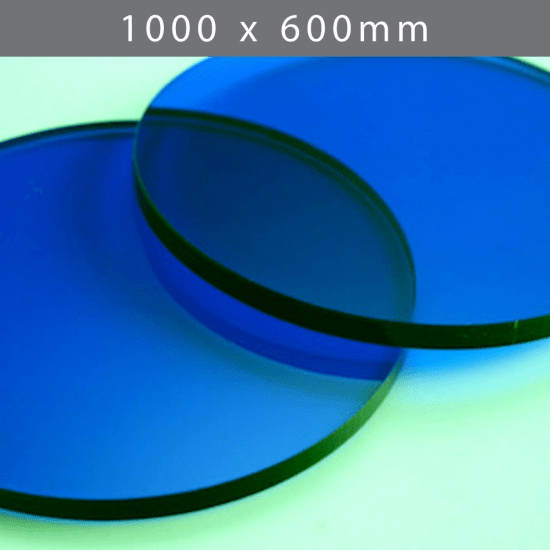Perspex acrylic online sales, buy cut size 1000 x 600mm. TINT Blue 3mm