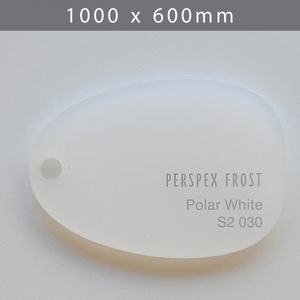 Perspex acrylic online sales, buy cut size 1000 x 600mm. FROST White 3mm