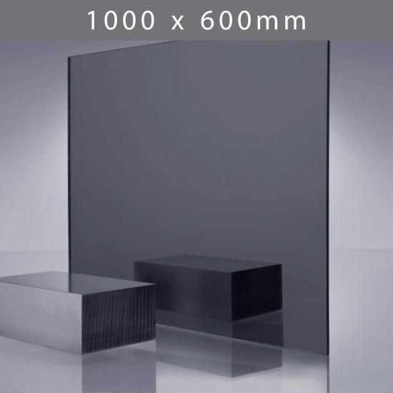 Perspex acrylic online sales, buy cut size 1000 x 600mm. TINT Grey 3mm