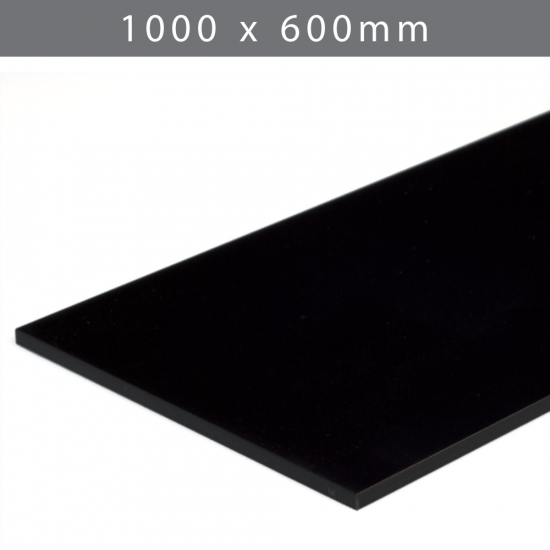 Perspex acrylic online sales, buy cut size 1000 x 600mm. STD Black 5mm
