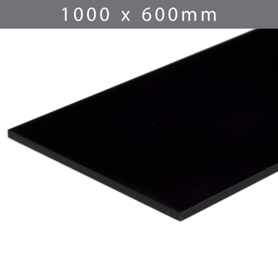 Perspex acrylic online sales, buy cut size 1000 x 600mm. Black 3mm
