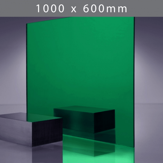 Perspex acrylic online sales, buy cut size 1000 x 600mm. TINT Green 3mm