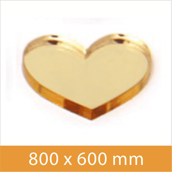 Mirror Gold 2mm 800x600mm