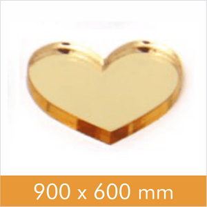 Mirror Gold 2mm 900x600mm