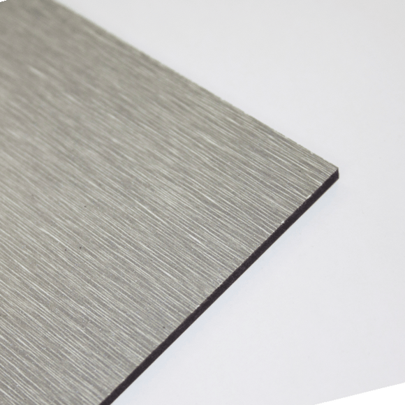 3mm Melamine on MDF - Brushed Grey 610 x 430mm
