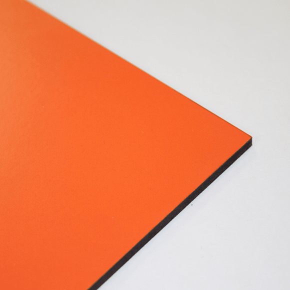 3mm Melamine on MDF - Orange 610 x 430mm