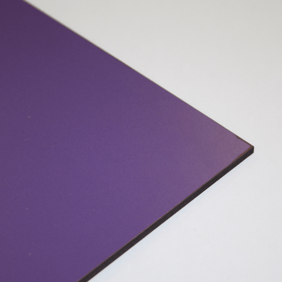 3mm Melamine on MDF - Purple 610 x 430mm