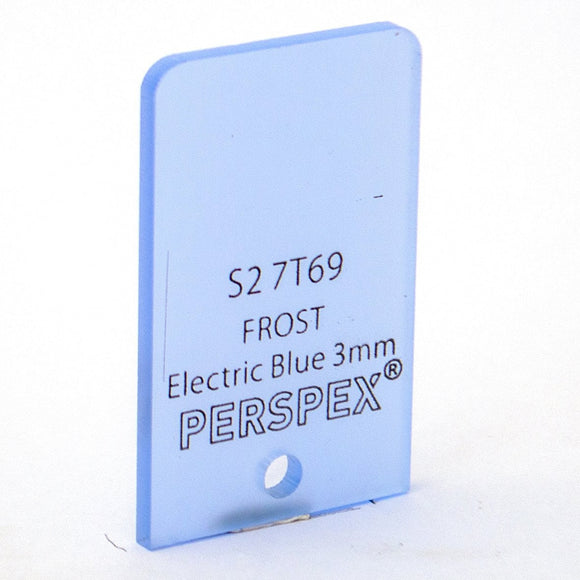 3mm Frost Electric Blue S27T69, 1000x600mm