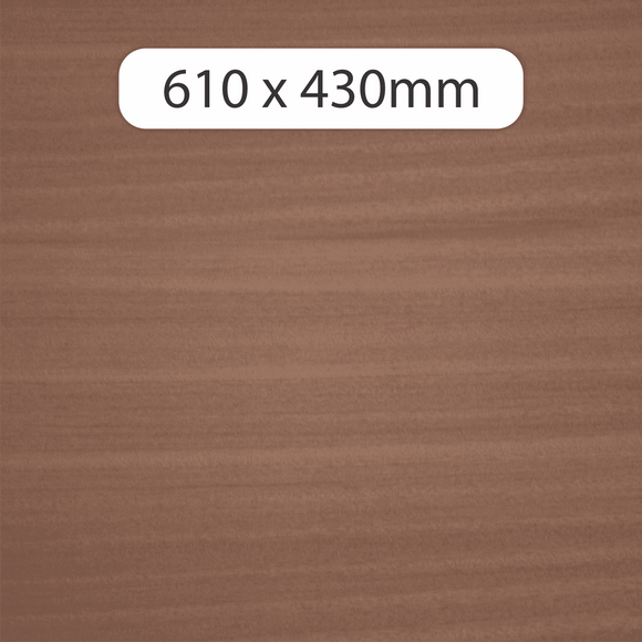 NEW 6mm MDF with Sapele veneer 610x430mm