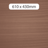 3mm MDF with Sapele veneer 610x430mm