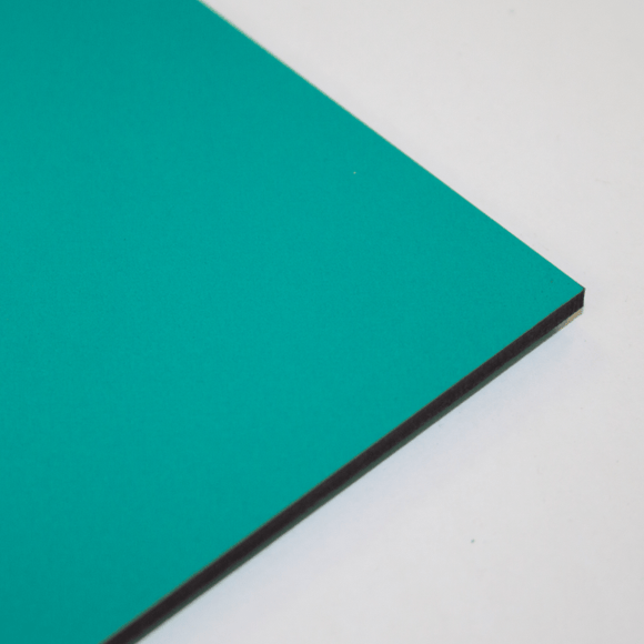 3mm Melamine on MDF - Turquoise 610 x 430mm