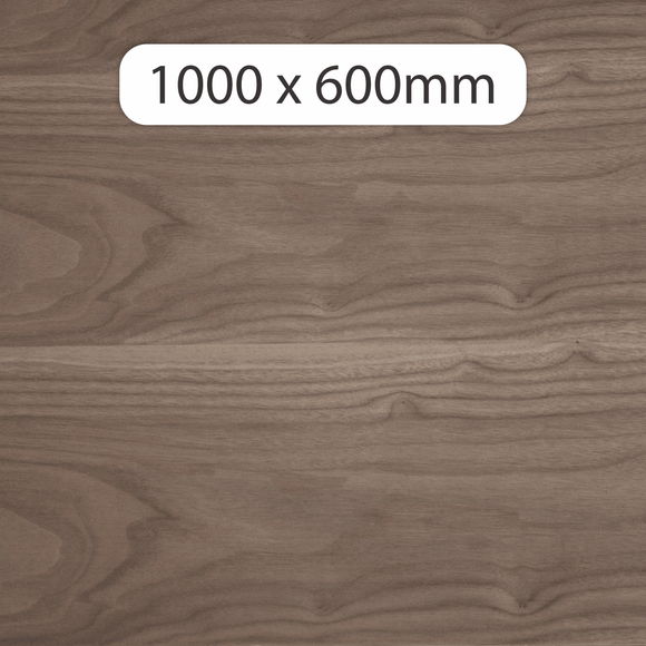 6mm MDF with Walnut veneer 1000x600mm