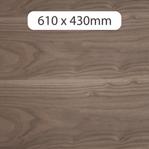 6mm MDF with Walnut veneer 610x430mm