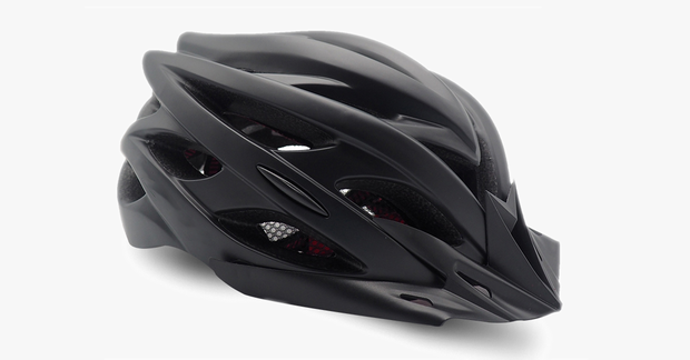 Matte Cycling Helmet With Built In Rear Light
