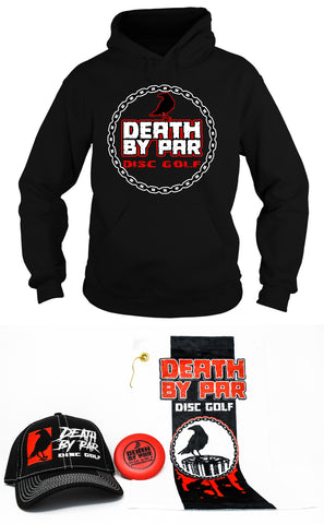 Death by Par Disc Golf Inside the Circle Hoodie and Hat Bundle