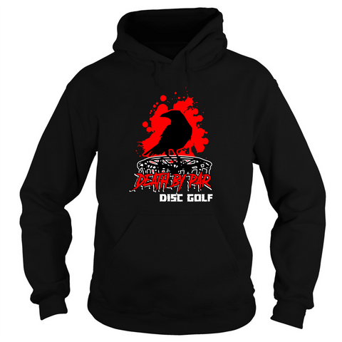 Death By Par Splatter Heavy Blend Disc Golf Hoodie