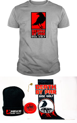 Death by Par Disc Golf T-Shirt and Beanie Bundle