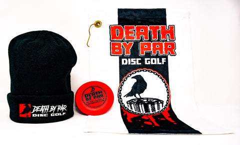 Death By Par Disc Golf Beanie Bundle