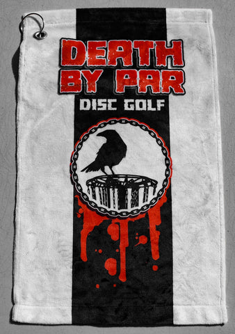 Death By Par Soft Disc Golf Towel Clip