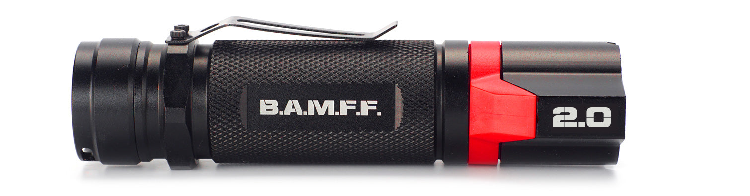 The STKR Concepts B.A.M.F.F. 2.0 - Dual LED tactical flashlight - 200 lumen