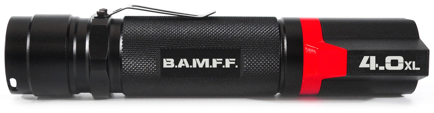 The STKR Concepts B.A.M.F.F. 4.0XL - Dual LED tactical flashlight - 400 lumens