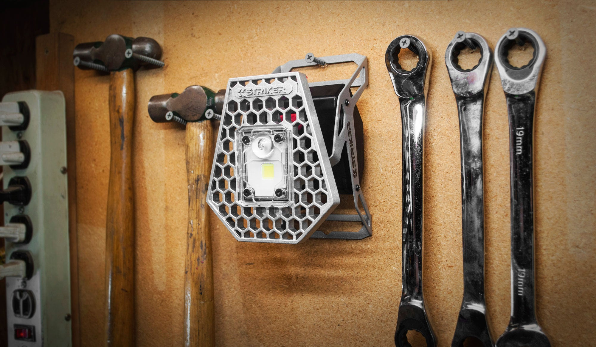 The Mobile Task Light hanging out in your workshop