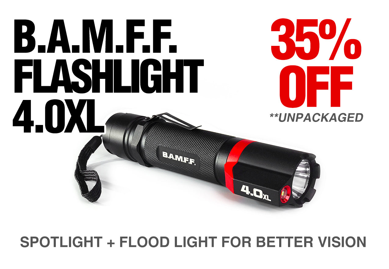 Deal of the Month - BAMFF 4.0XL - Dual LED Tactical Flashlight Unpackaged Deal