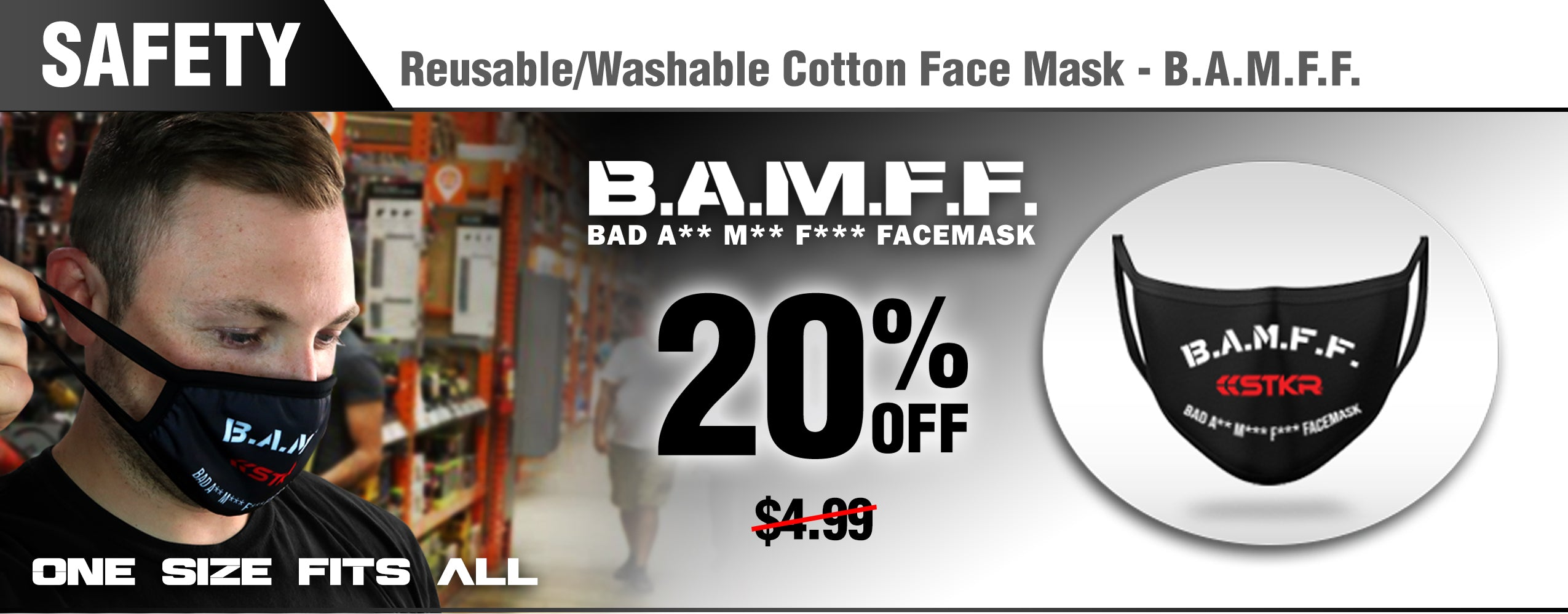 STKR Concepts Deal of the Month - BAMFF Face Mask