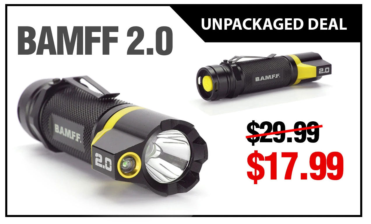 Deal of the Month - BAMFF 2.0 - Dual LED Tactical Flashlight Unpackaged Deal