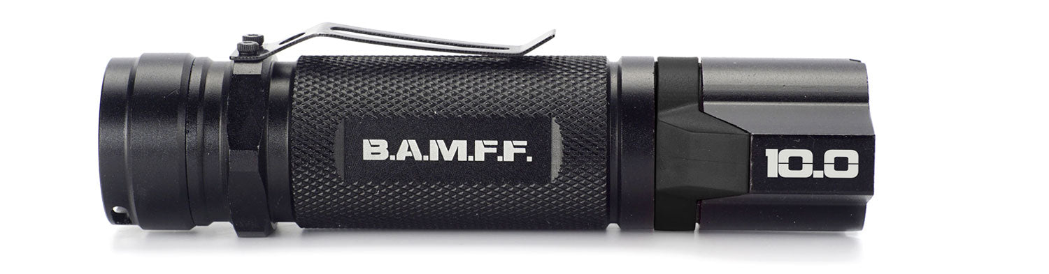 The STKR Concepts B.A.M.F.F. 10.0 - Dual LED tactical flashlight - 1000 lumens