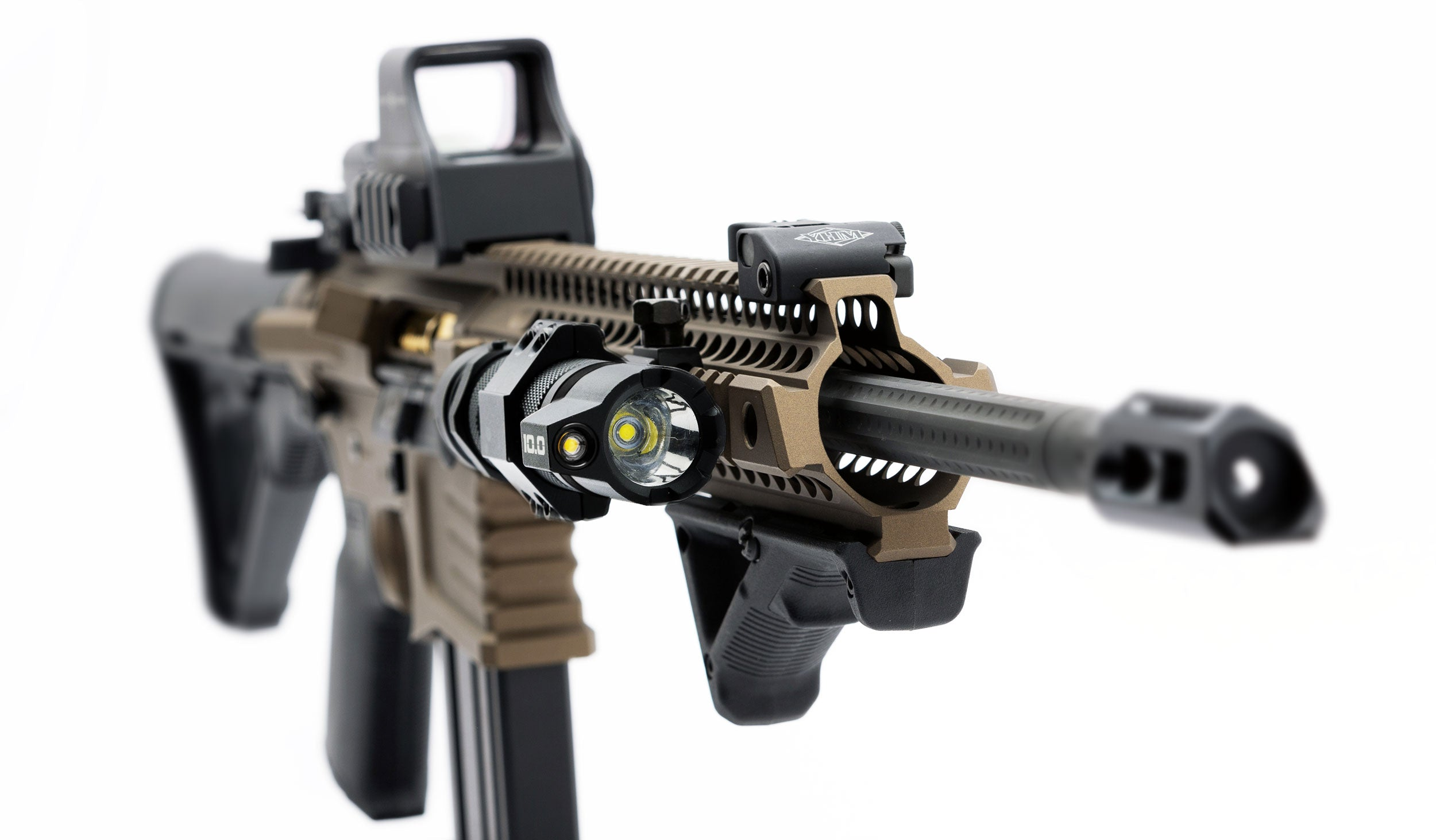 Striker Concepts B.A.M.F.F. 10.0 Dual LED Flashlight mounted on gun | STKR Concepts