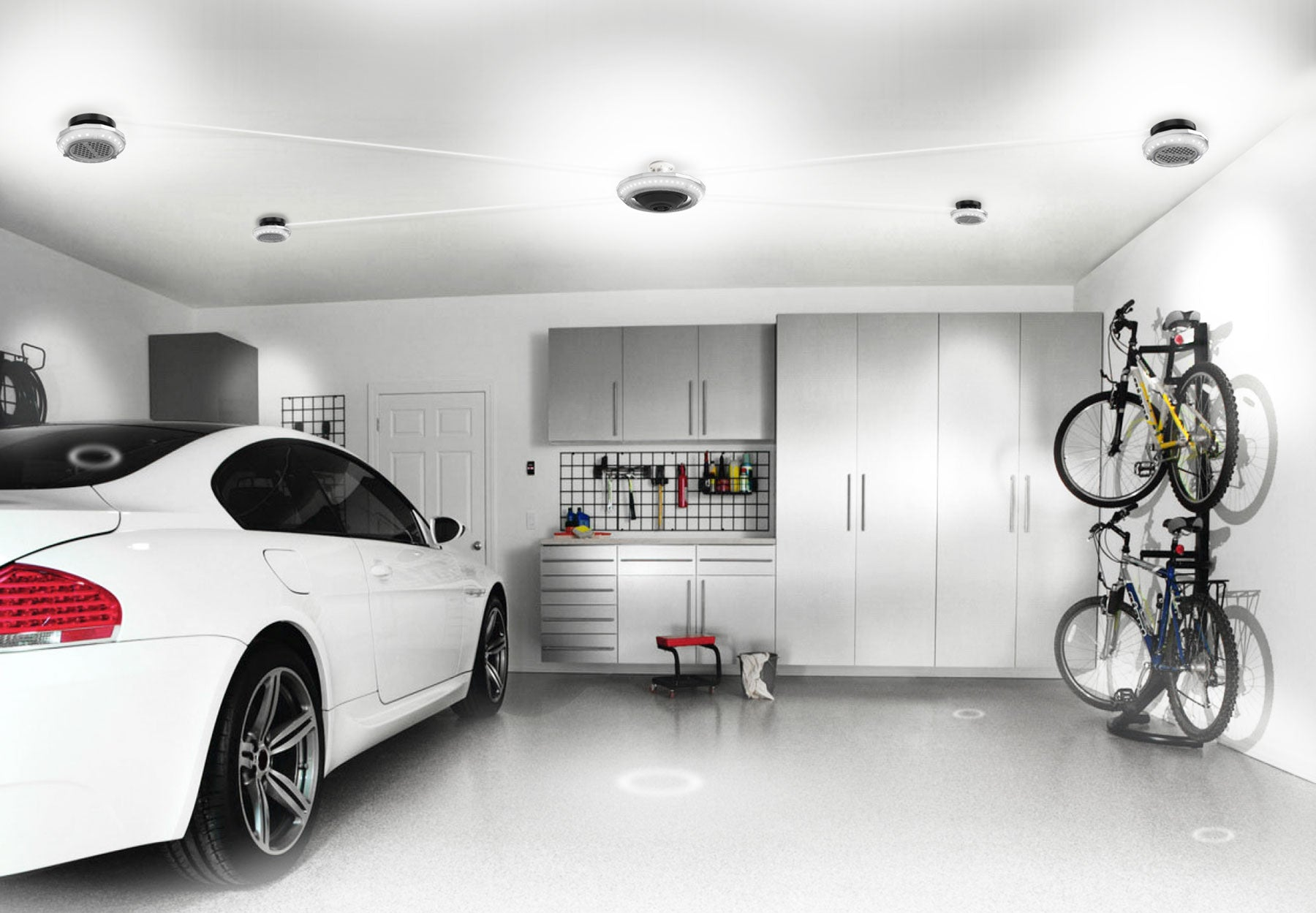 MPI Motion Activated Garage Ceiling Light - Multi LED Lights in one - main image