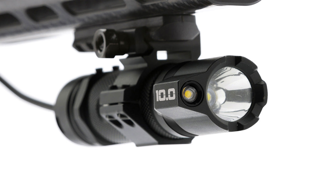 STKR Concepts B.A.M.F.F. 10.0 Dual LED Tactical Flashlight with picatinny gun mount accessories - Striker
