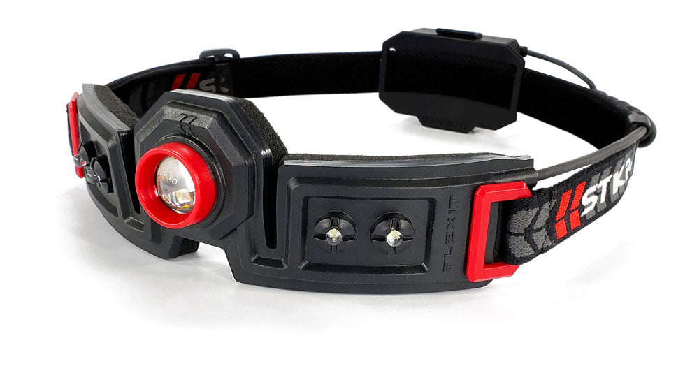 STKR Concepts FLEXiT Headlamp 2.5 - 250 lumen dual spot light and flood light headlamp - Striker