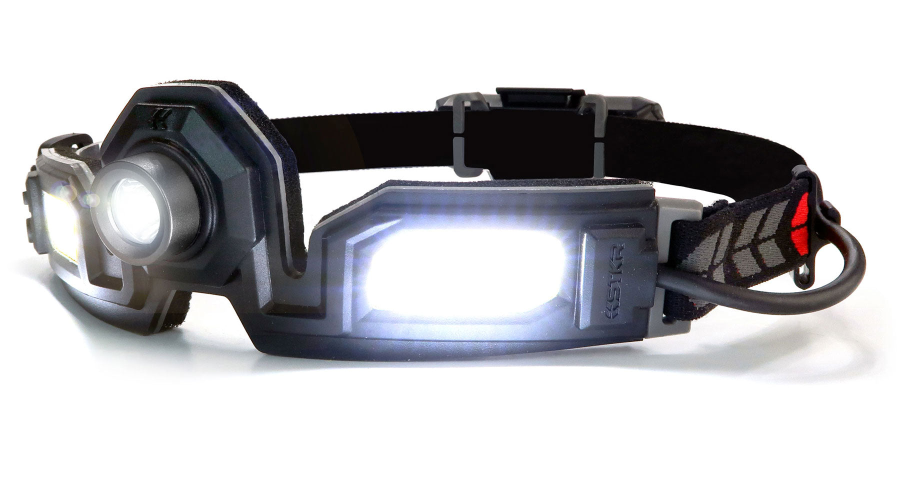 STKR Concepts FLEXIT Headlamp PRO 6.5 - 650 lumen dual spot light and flood light headlamp - striker