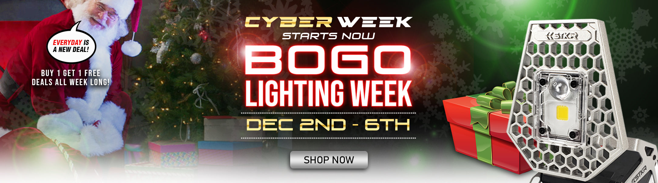 STKR Concepts Cyber Week Sale - BOGO Lighting and Flashlight Deals