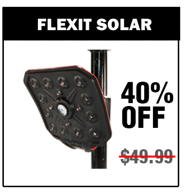 Save 40% on the FLEIXT Solar - Rechargeable Flexible Flashlight by STKR Concepts