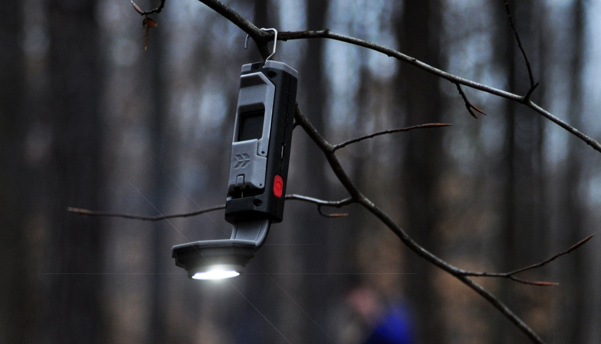 Use the FLEXIT Pocket Light hands-free with hanging hook like on a tree branch | STKR Concepts