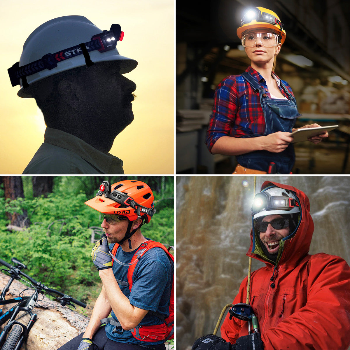 use the FLEXiT Headlamp for activities like cycling, construction, diy, climbing and much more