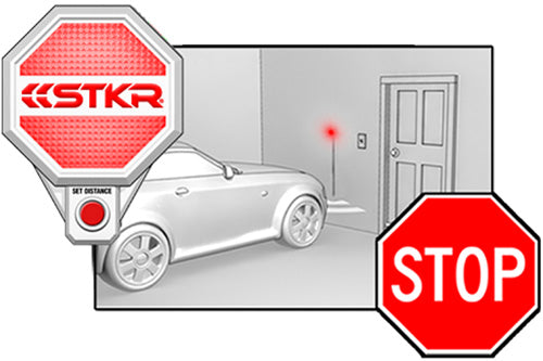 STKR Concepts Garage Parking Sensor step-by-step to parking car - step 3 stop