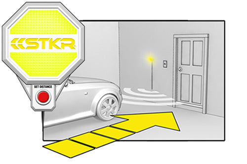 STKR Concepts Garage Parking Sensor step-by-step to parking car - step 2 slow down