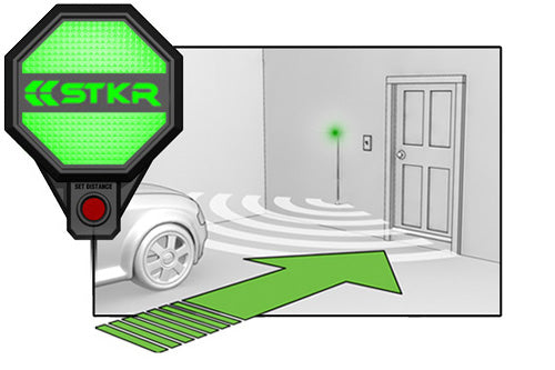 STKR Concepts Garage Parking Sensor step-by-step to parking car - step 1 approach